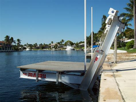Neptune Boat Lift Key Largo by Hi Tide Boat Lifts Marine Construction