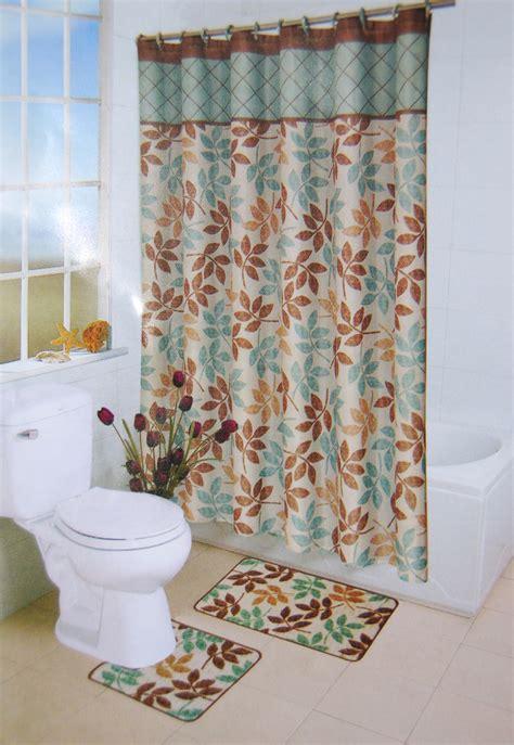 pcs bath rug set leopard brown bathroom rug shower curtain mat rings towel setbuy pcs bath