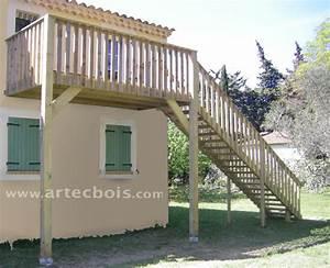 Escalier Terrasse Bois : artecbois terrasses en bois en hauteur suspendues ou sur ~ Nature-et-papiers.com Idées de Décoration