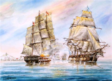 Barco De Vapor Causas Y Consecuencias by Carlos Gerster Acuarelas Batalla Naval Del Rio De La Plata