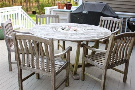 teak wood table and chairs cleaning sealing outdoor teak furniture shine your light