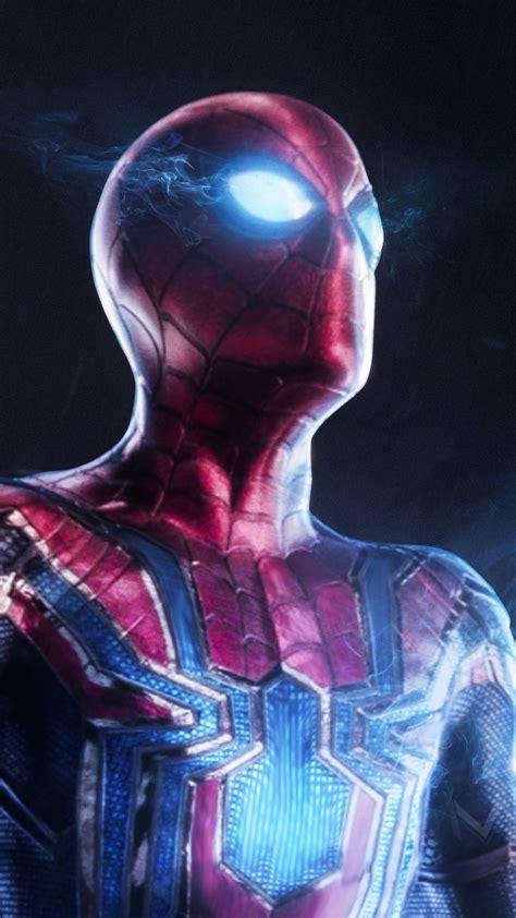 wallpaper spider man avengers infinity war iron spider