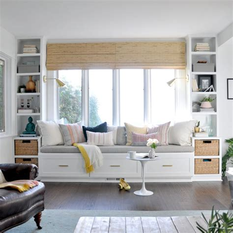 Living Room Storage Seat by Window Seat And Built Ins Reveal Befores Middles And