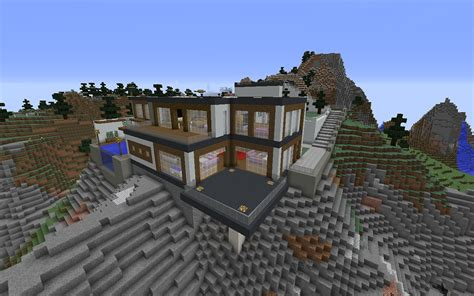 minecraft house landscape modern wallpapers hd desktop  mobile backgrounds