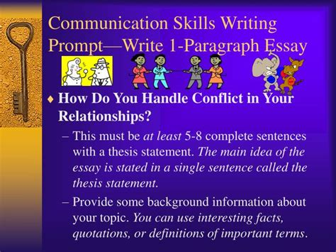 ppt communication skills writing prompt write 1