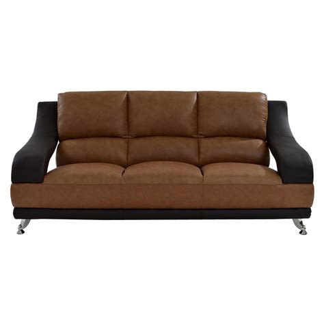 camel faux leather sofa jedda camel leather sofa el dorado furniture