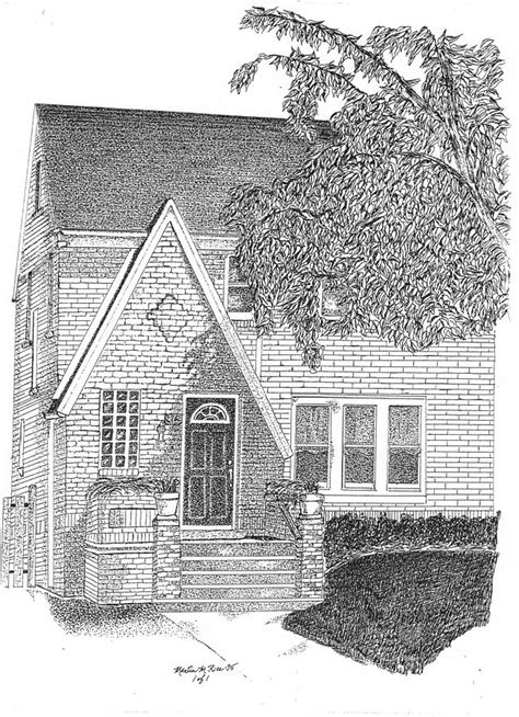 house drawings house home rendering drawing by marty rice