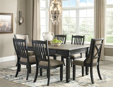 tyler creek black  gray rectangular dining room set