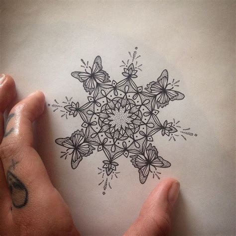 butterfly mandala tattoo ideas  pinterest
