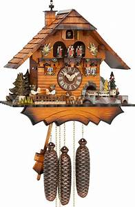 Cuckoo Clock 8-day-movement Chalet-Style 36cm by Hubert ...