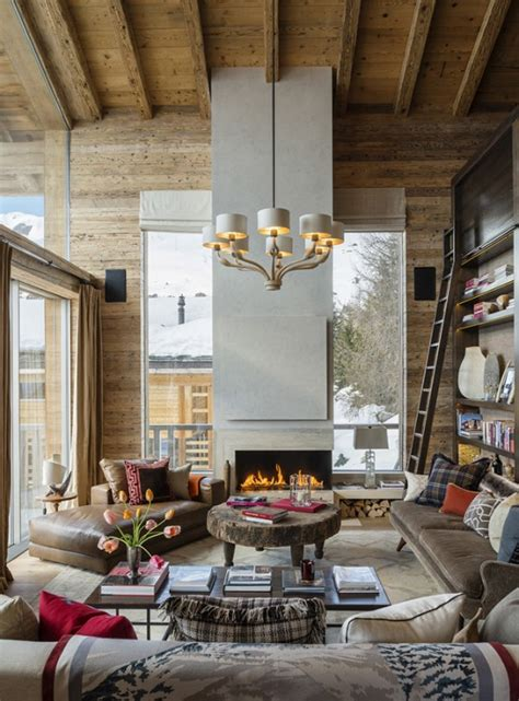 swiss chalet decor luxurious swiss chalet with lots of wood and stone digsdigs