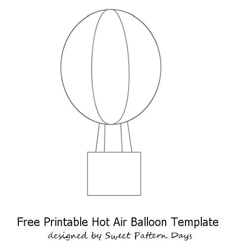 Air Balloon Template Air Balloon Craft Template La In My Classroom