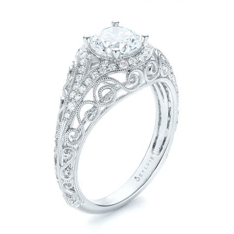 vintage inspired engagement ring 103060