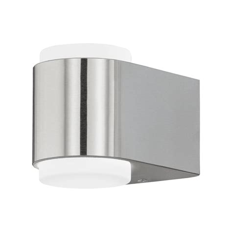 eglo 95079 briones led outdoor wall light in stainless steel