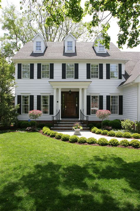 colonial home white colonial house traditional exterior chicago