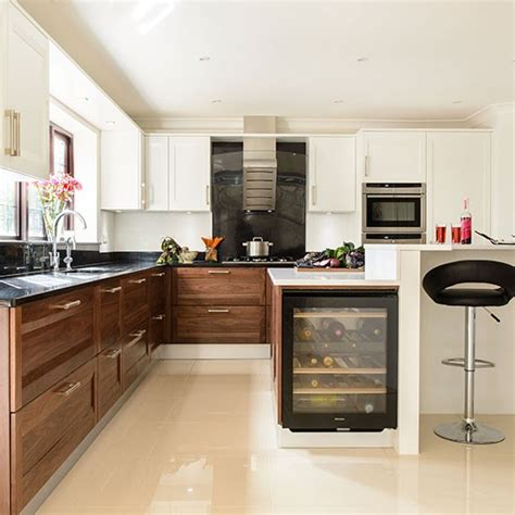 Walnut And White Kitchen  Kitchen Decorating