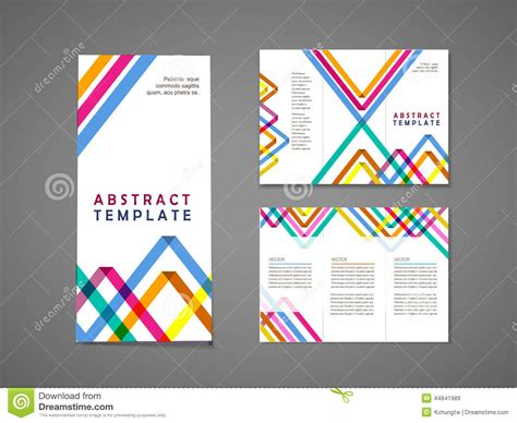 Colorful Brochure Templates by Colorful Triangle Pattern Background Tri Fold Brochure