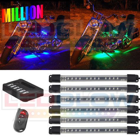 underglow lights for motorcycles 6pc ledglow million color multi color led motorcycle