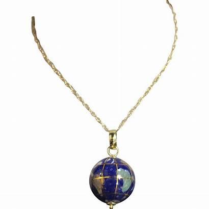 Globe Necklace Gemstone 14k Wanderlust Natural