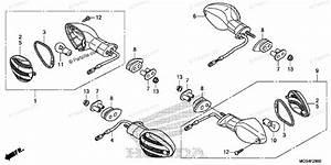 Honda Motorcycle 2012 Oem Parts Diagram For Turn Signal