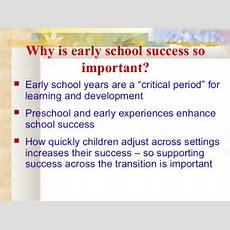School Readiness Ppt