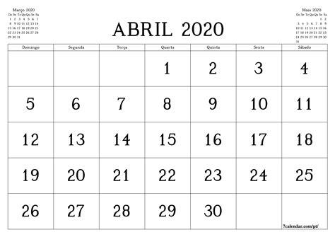 planejador  calendario mensal em branco imprimivel