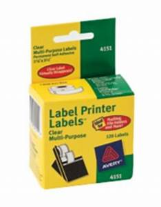 avery clear multipurpose labels for dymo seiko and zebra With avery zebra labels