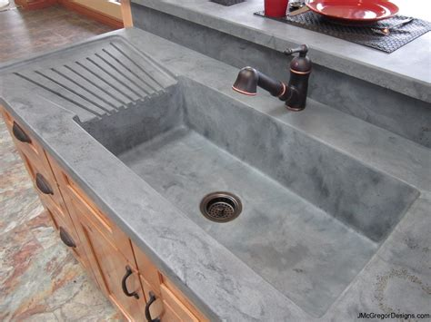 kitchen countertop with built in sink integrated 171 mcgregor designs decorative high 9316