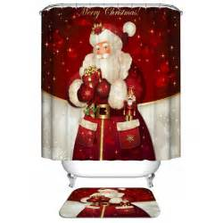 bathroom product red christmas santa claus waterproof