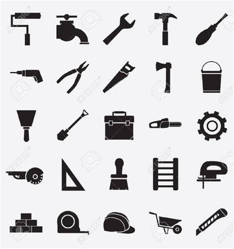 construction icons psd vector eps format