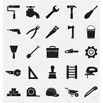 Construction Tools Icons Vector Tool Machine Icon