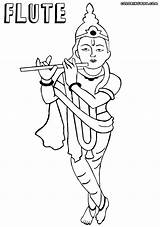 Flute Coloring sketch template
