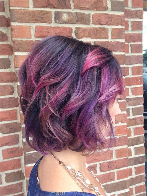 Pink And Purple Ombre Hair Pinterest More Purple