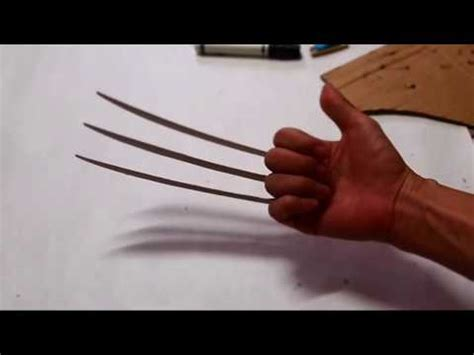 wolverine claws template 52 wolverine claws diy cardboard free template how to dali diy