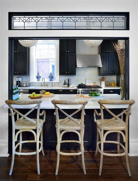 Are Bars Out Of Style by Kitchen Wall Cut Out Breakfast Bar With Black Cabinets