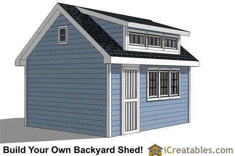 free 10x16 shed plans 10x16 shed plans with dormer icreatables