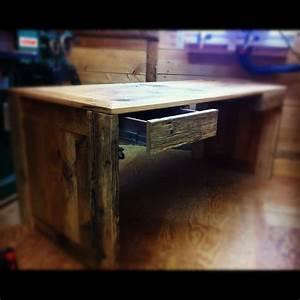 Image Bureau Travail : table sur mesure bois et acier j r me lavoie b niste ~ Melissatoandfro.com Idées de Décoration