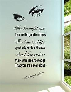 Big Wall Sticker Beauty Eyes Wall Words And Quotes Unique