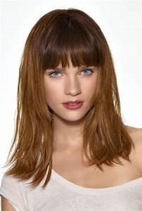 Frange Cheveux Mi Long : cheveux mi long frange coiffure mi long frange marie claire ~ Melissatoandfro.com Idées de Décoration