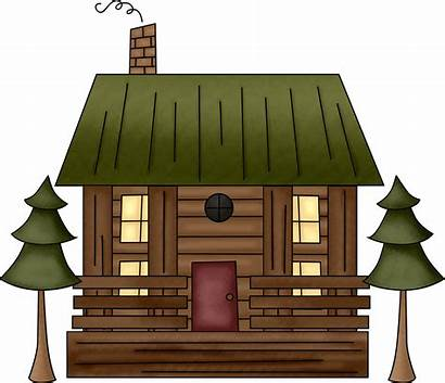 Cabin Clipart Log Clip Woods Camping Rustic