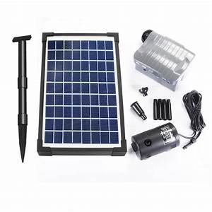 Pompe Pour Jet D Eau Fontaine : pompe solaire jet d 39 eau de bassin 20w vld batterie ~ Premium-room.com Idées de Décoration