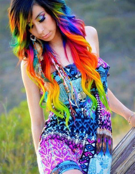 rainbow hair color rainbow hair color strayhair