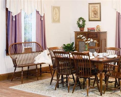 Amish Thumb Back Windsor Dining Room Chair Chairs
