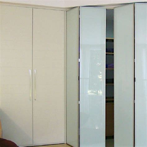 Aries bi fold cream closet door 004 Glass   Aries Interior