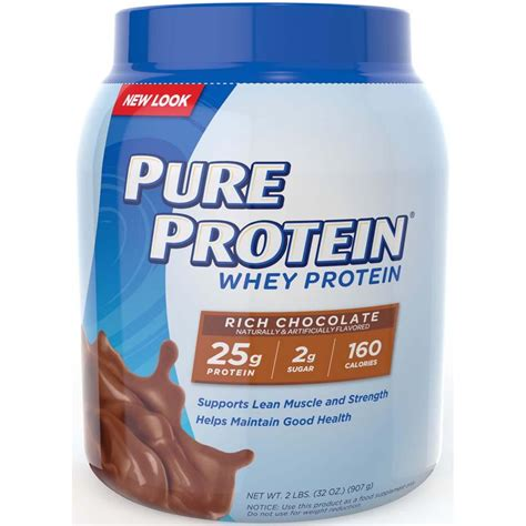 Amazon.com: Pure Protein 100% Whey Protein, Rich Chocolate