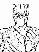 Panther Coloring Drawing Marvel Printable Colouring Avengers Drawings Cartoon Sketches Superhero Gaddynippercrayons Superheroes Characters Character Comic Challa Pencil sketch template