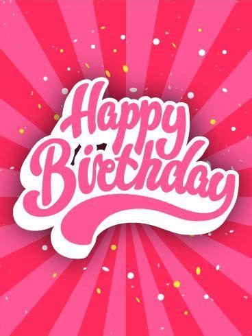 totally pinkalicious birthday card   fun loving