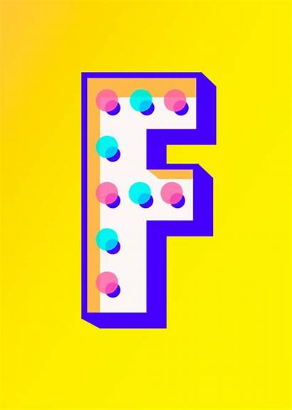 Typography Letters Behance Futura Carnival Cut Animation