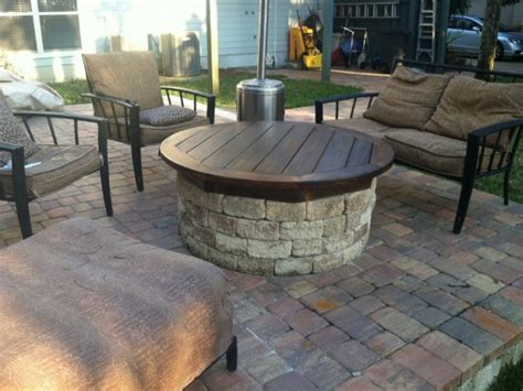 gas fired pit wooden decks and patios wooden decks