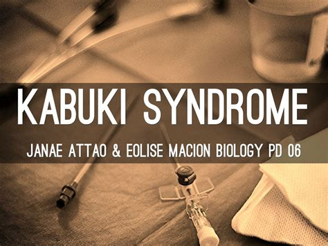 Kabuki Syndrome By Soccerhawk64